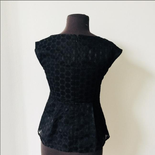 Ann Taylor Crotchet Date Night Night Out Top Black Image 1