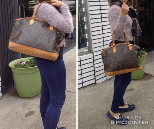 Louis Vuitton Monogram Leather Tote in Brown Image 11