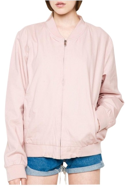 Nordstrom Bomber Sweetheart Fall Winter Light Pink Jacket Image 0