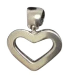 Impressed Jewelry SOLID 14K White REAL GOLD SOLID HEART LOVE CHARM PENDANT