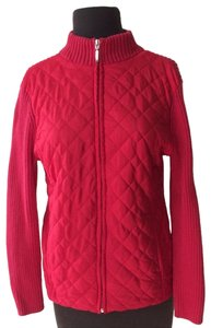 Croft & Barrow Knit Holiday Zip-up Fall Winter Red Jacket