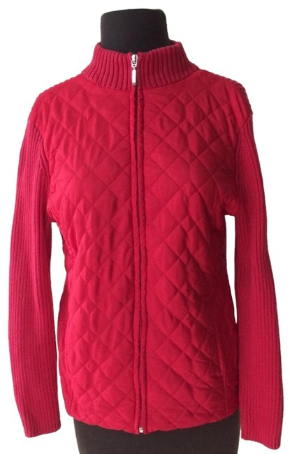 Preload https://img-static.tradesy.com/item/24197787/croft-and-barrow-red-knit-zip-up-jacket-size-6-s-0-1-650-650.jpg