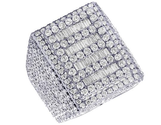 Preload https://img-static.tradesy.com/item/24198009/jewelry-unlimited-10k-white-gold-mens-baguette-real-diamond-pinky-1045-ct-ring-0-1-540-540.jpg