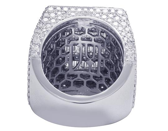 Jewelry Unlimited Mens 10K White Gold Baguette Real Diamond Pinky Ring 10.45 CT Image 3