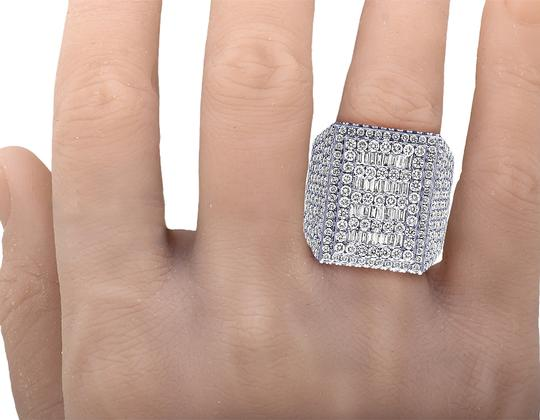 Jewelry Unlimited Mens 10K White Gold Baguette Real Diamond Pinky Ring 10.45 CT Image 5
