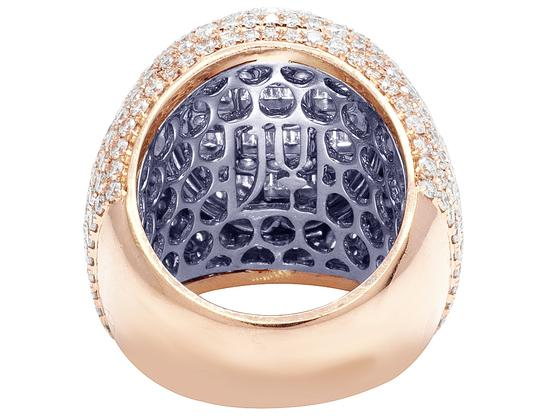Jewelry Unlimited Mens 10K Two Tone Gold Rose White Baguette Diamond Pinky Ring 8.60CT Image 4