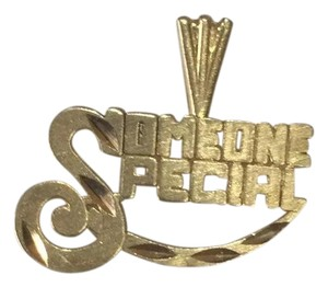 Impressed Jewelry 14k Yellow solid Real GOLD SOMEONE SPECIAL Pendant Charm Plate