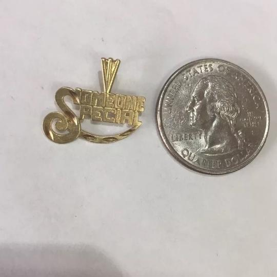Impressed Jewelry 14k Yellow solid Real GOLD SOMEONE SPECIAL Pendant Charm Plate Image 1