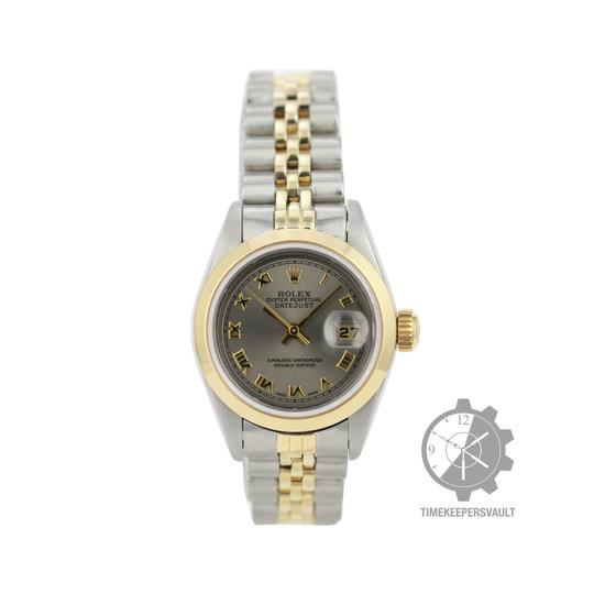 Rolex Rolex Lady Datejust Grey Dial Smooth Bezel 26mm ALL Original Watch Image 1