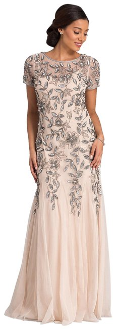 Preload https://img-static.tradesy.com/item/24198252/adrianna-papell-taupe-pink-091897240-long-formal-dress-size-14-l-0-1-650-650.jpg