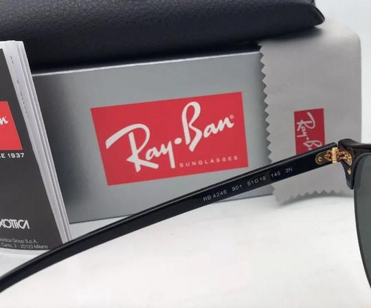 Ray-Ban New RAY-BAN Sunglasses CLUBROUND RB 4246 901 51-19 145 Black & Gold Image 3