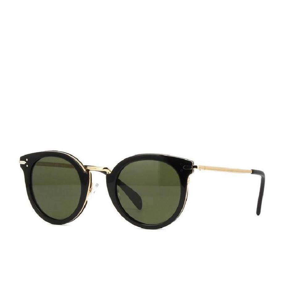 81e7b848cc7 Céline Black and Gold Lea Ci41373 S Anwe1e Sunglasses - Tradesy
