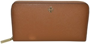 61963ca9bfb9 Tory Burch NWT TORY BURCH EMERSON ZIP CONTINENTAL LEATHER WALLET 50710  TIGERS EYE