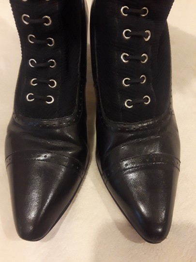 Other Leather Vintage Black Boots Image 3