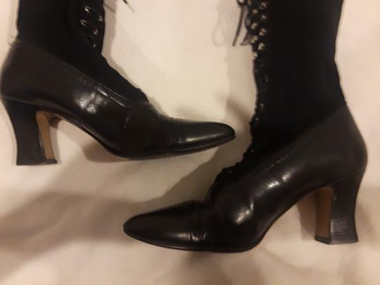 Other Leather Vintage Black Boots Image 5