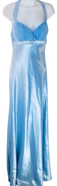 Item - Crystal Blue Gown By Long Formal Dress Size 8 (M)