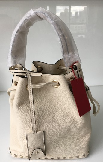 Valentino Rockstud Embellished Classic Bucket Totes Cross Body Bag Image 11
