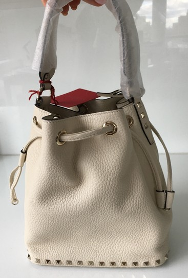 Valentino Rockstud Embellished Classic Bucket Totes Cross Body Bag Image 5
