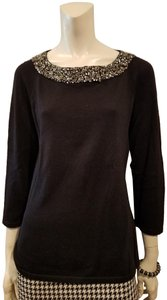 Anne Klein Embellished Longsleeve Classic Chic Holiday Sweater