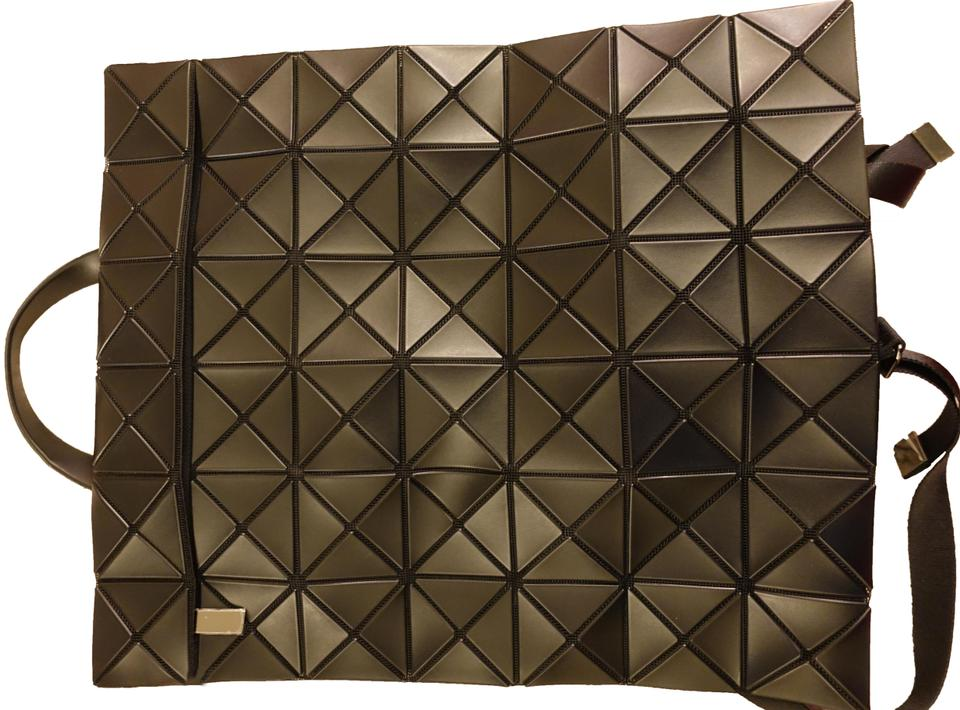Issey Miyake Geometric Structure Black Pvc   Polyester Backpack ... 9a14119fff854
