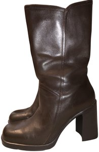 Mainframe Leather Chunky 90's Grunge Brown Boots