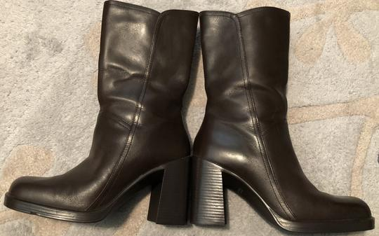 Mainframe Leather Chunky 90's Grunge Brown Boots Image 1