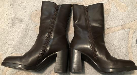 Mainframe Leather Chunky 90's Grunge Brown Boots Image 2