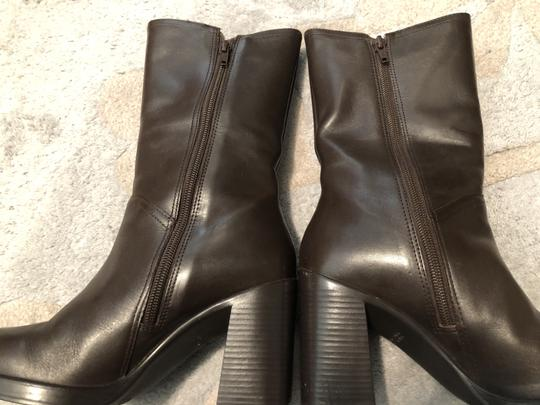 Mainframe Leather Chunky 90's Grunge Brown Boots Image 3