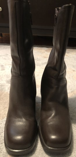 Mainframe Leather Chunky 90's Grunge Brown Boots Image 4