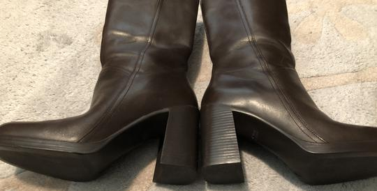 Mainframe Leather Chunky 90's Grunge Brown Boots Image 6