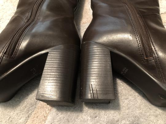 Mainframe Leather Chunky 90's Grunge Brown Boots Image 7