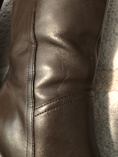 Mainframe Leather Chunky 90's Grunge Brown Boots Image 8