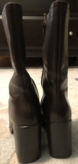 Mainframe Leather Chunky 90's Grunge Brown Boots Image 9