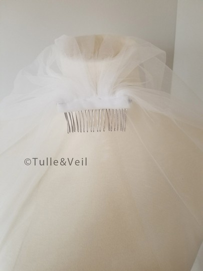 Ivory Long Cathedral Lace - Katie Bridal Veil Image 1