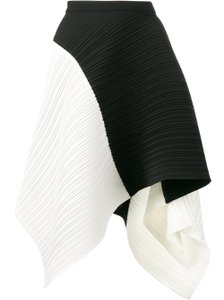 Proenza Schouler Runway Designer Modern Pleated Skirt Black/White