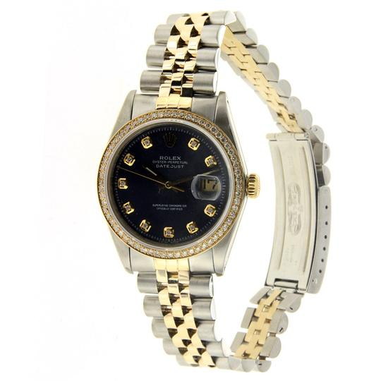 Rolex Vintage Rolex Datejust 36MM Stainless Steel and Yellow Gold with Diamo Image 1