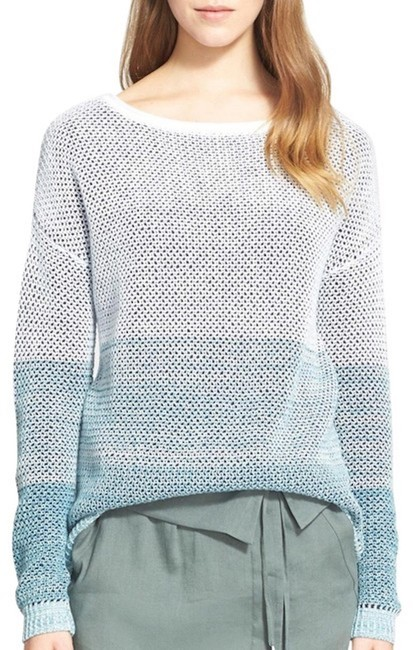 Vince Ombre Stripe Theory Cotton Sweater Image 1