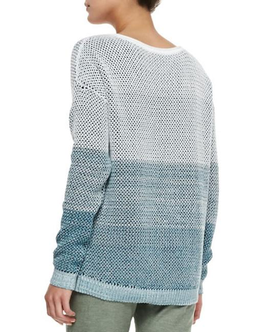 Vince Ombre Stripe Theory Cotton Sweater Image 3