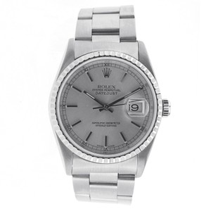 Rolex Rolex Date Just 36MM Stainless Steel with Fluted Bezel - 16200