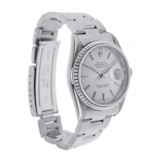 Rolex Rolex Date Just 36MM Stainless Steel with Fluted Bezel - 16200 Image 1