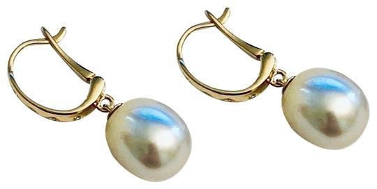 Estate CERTIFIED 1590 South Sea Pearl & Diamond 12.58 Mm 14Kt Earrings 13901 Image 1