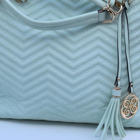 Perlina Tote in Mint green Image 2