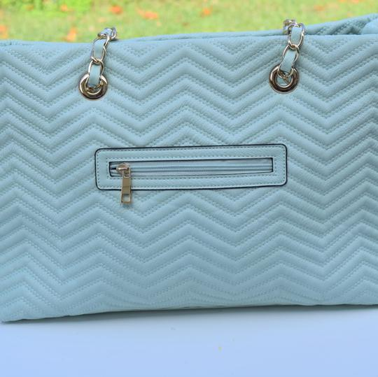 Perlina Tote in Mint green Image 3