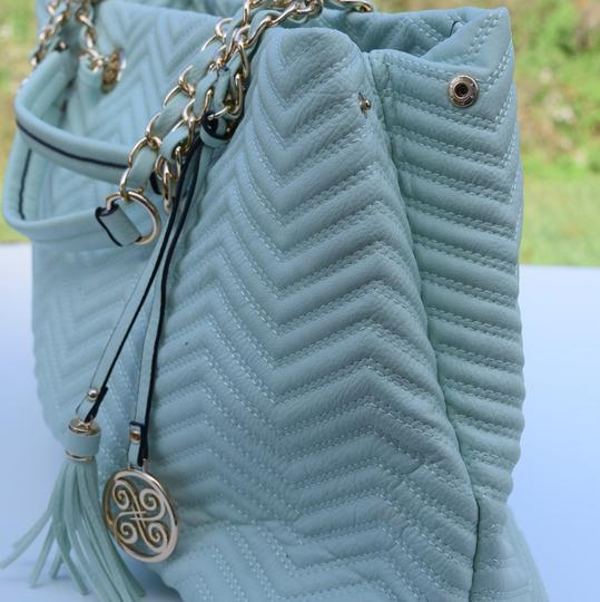 Perlina Tote in Mint green Image 4