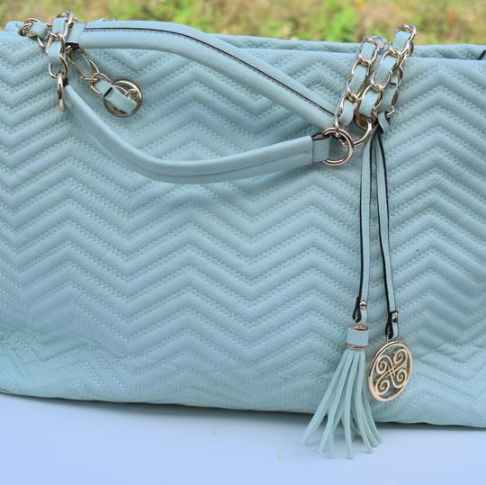 Perlina Tote in Mint green Image 6