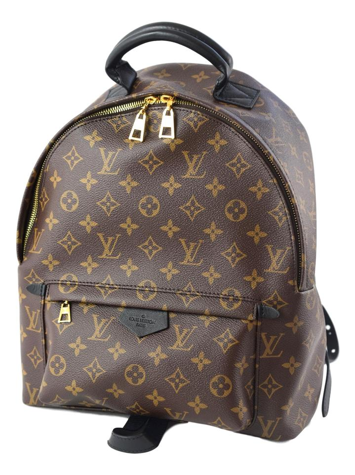 767f9b3156b30 Louis Vuitton Palm Spring Mm Monogram Brown and Black Coated Canvas Backpack