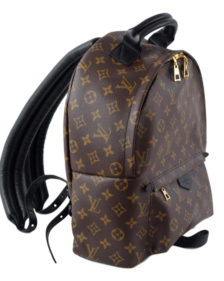 7e04376b1734c Louis Vuitton Palm Spring Mm Monogram Brown and Black Coated Canvas ...