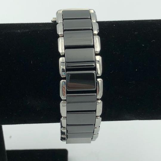 PANDORA Pandora facets watch with black ceramic and stainless steel band Image 1