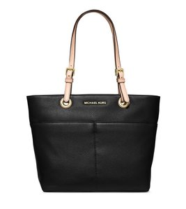 Michael Kors Coach Leather Turnlock Chain White Tote in Black