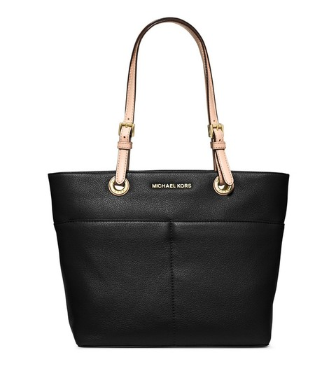 Preload https://img-static.tradesy.com/item/24199076/michael-kors-bedford-top-zip-pocket-black-leather-tote-0-0-540-540.jpg